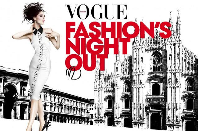 Tutto pronto per la Milano Vogue Fashion's Night Out