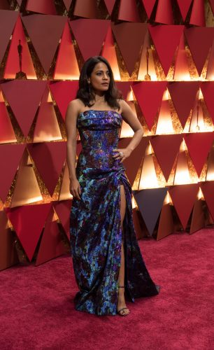 Priyanka Bose arrives on the red carpet of The 89th Oscars® at the Dolby® Theatre in Hollywood, CA on Sunday, February 26, 2017.