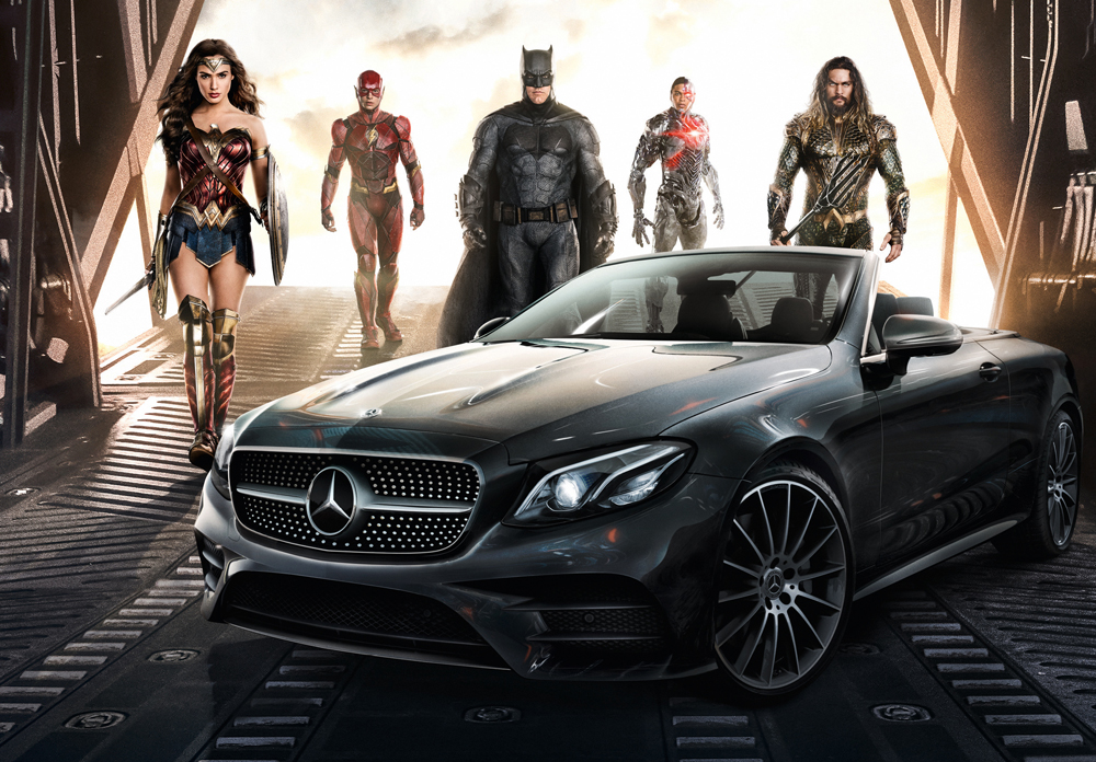 Justice League, i supereroi viaggiano in Mercedes-Benz!