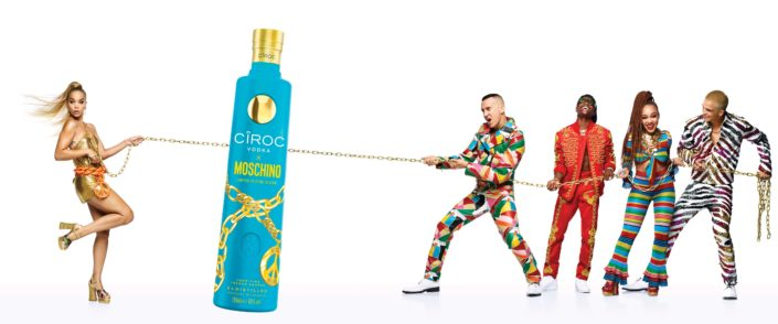luxury vodka CÎROC con Moschino